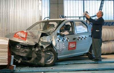 Renault Logan - краш-тест